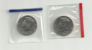 1990 P & D Kennedy Half Dollars Unc/sealed In Cello photo
