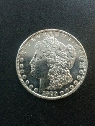 1879 S Morgan Dollar Polished Au photo