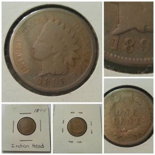 1895 Indian Head Penny Coin photo