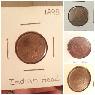 1898 Indian Head Penny Coin photo