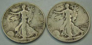 1943 P & S Walking Liberty Half Dollar - Item 1147 photo