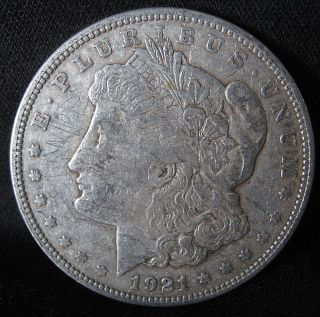 1921 - P Silver Morgan Dollar - Old 90% Silver Dollar From The Roaring 20 ' S photo