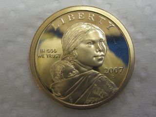 2007 S Gem Proof Sacagawea Native American Dollar photo