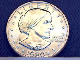 1980 D Susan B Anthony Dollar Gem Bu photo
