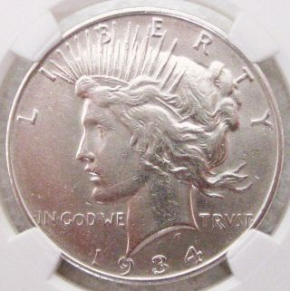1934 - D Peace Dollar - Almost Uncirculated - Peace Dollar photo