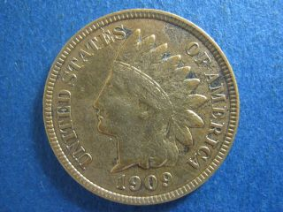 1909 Indian Head Cent,  Extra Fine; Variety: Strong Letter Doubling photo