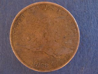 1858 Flying Eagle Cent,  Good photo