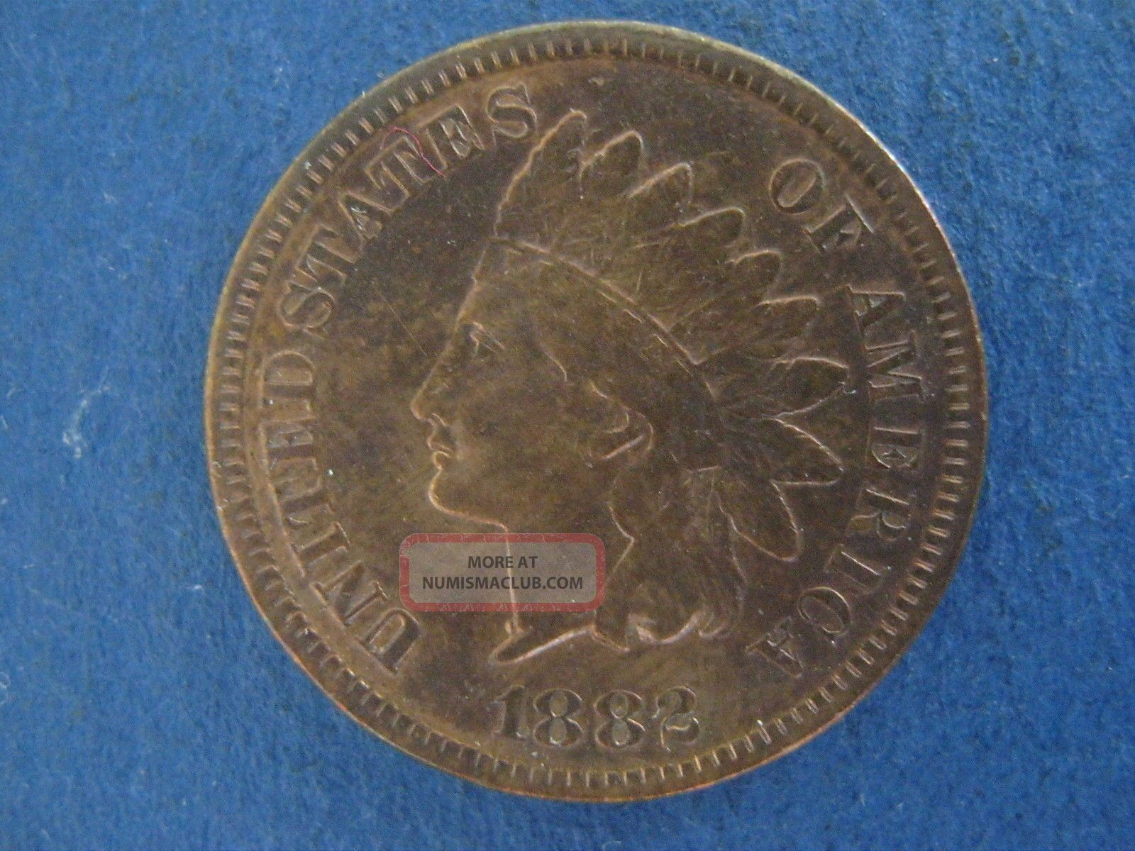 1882 Indian Head Cent High End Extra Fine Variety Very Strong Doubling On United Small Cents photo
