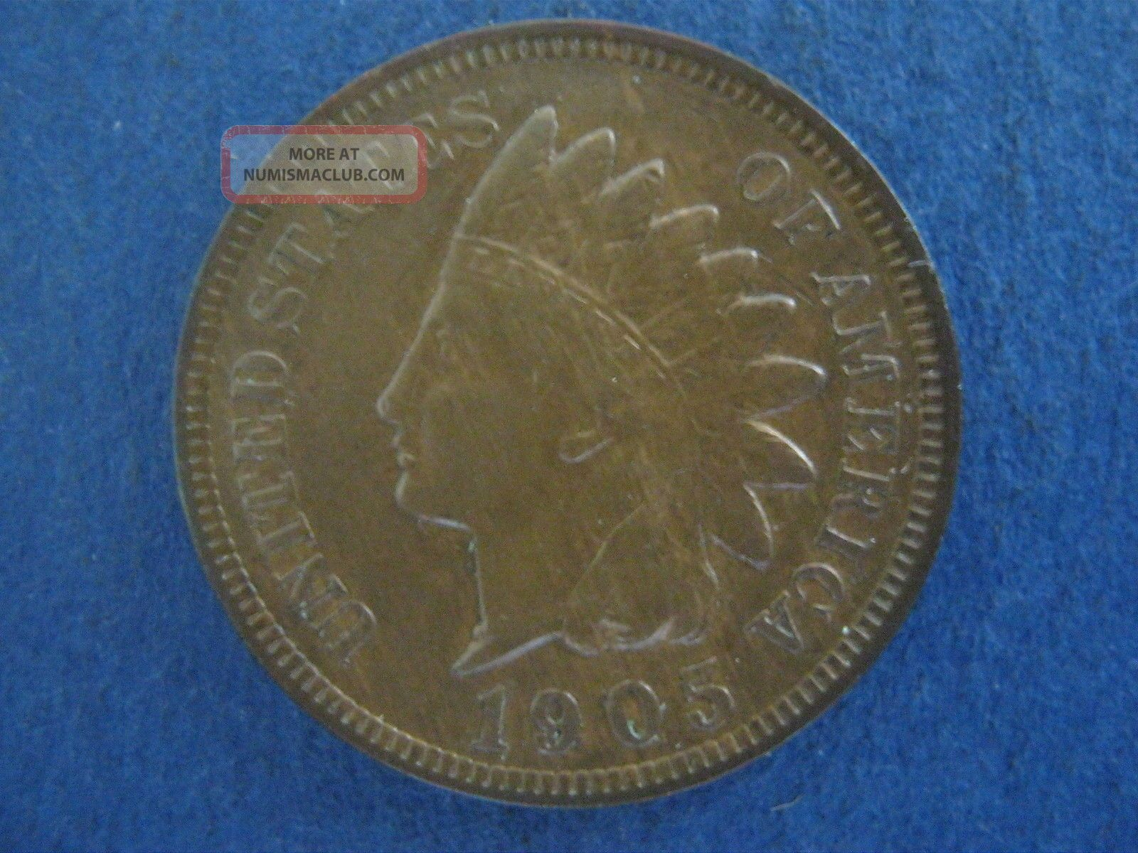 1905 Indian Head Cent,  Extra Fine Small Cents photo
