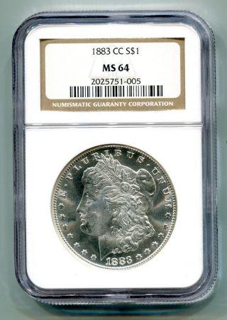 1883 - Cc Morgan Silver Dollar Ngc Ms 64 White Coin Premium Quality photo
