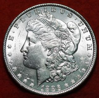 Uncirculated 1886 Silver Morgan Dollar S/h photo