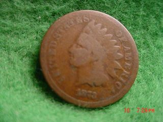 1873 Closed 3 Indian Head Cent,  Good photo