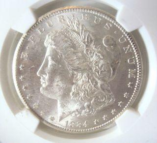 1884 - Cc Morgan Silver Dollar Coin Carson City Ms62 photo