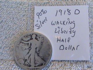 1918 D 90% Silver Liberty Half Dollar photo