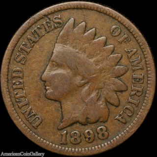 1898 Indian Head Penny Better Grade Old Rare Great Us Coin Z photo