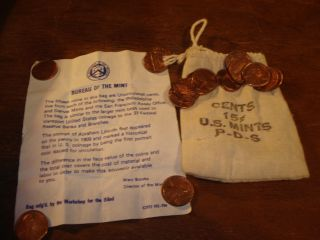 Cents 15 U S P - D - S Bag.  Rare Made For Workshop For Blind Mary Brooks photo