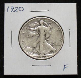 1920 F Walking Liberty Half Dollar photo