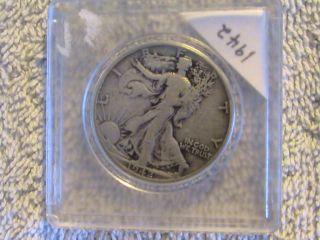 1942 90% Silver Liberty Half Dollar World War 2 photo