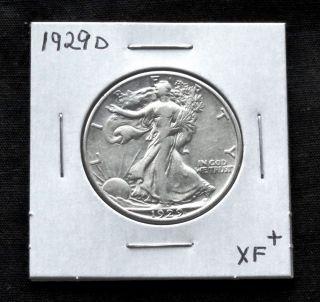 1929d Xf+ Walking Liberty Half Dollar photo