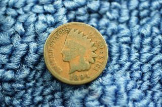 1894 Indian Head Small Cent Or Penny Item 344 photo