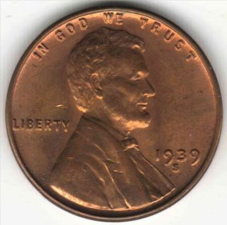 Very Cherry Red 1939s Lincoln Cent photo