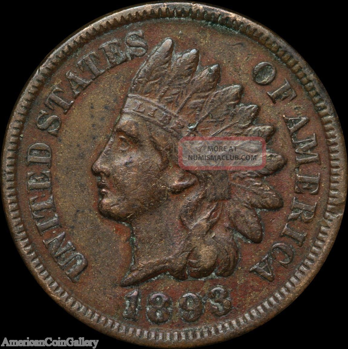 1893 Indian Head Penny Vf/xf Rare Great Us Coin Z Small Cents photo