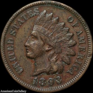 1893 Indian Head Penny Vf/xf Rare Great Us Coin Z photo