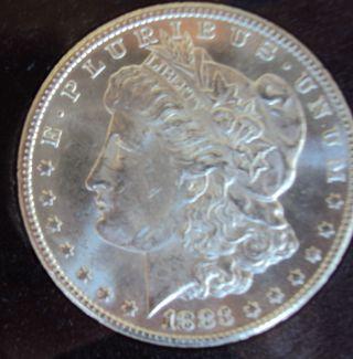 1883 - Cc Carson City $1 Gsa Morgan Silver Dollar Uncirculated Gsa Holder & photo