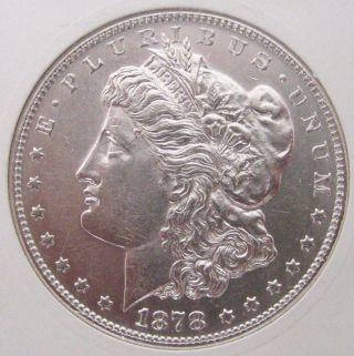 1878 - S Morgan Silver Dollar - Brilliant Uncirculated photo
