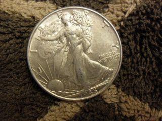 1945 P Walking Liberty Silver Half Dollar - Sharp & Detailed Au Coin photo
