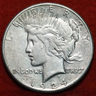 1924 - S Silver Peace Dollar photo