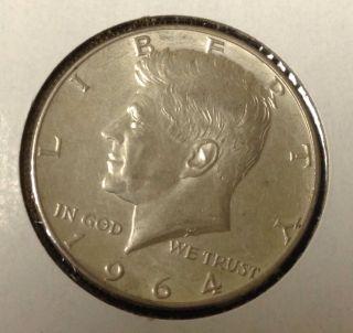 T434 : 1964 - D Silver Kennedy Half Dollar Coin :fairhouse Hq Liberty photo