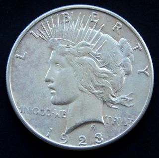 1923 S Peace Silver Dollar $1 photo