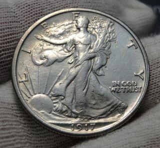 1917 Walking Liberty Half Dollar.  (1225) photo