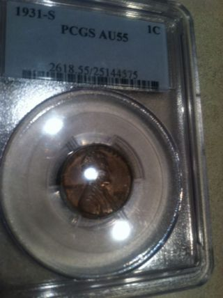 1931 - S Key Date Lincoln Penny Pcgs Au - 55 Awesome Coin photo