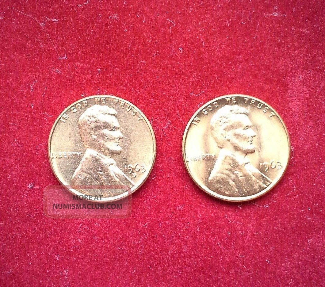 1963 P/d Lincoln,  Memorial Cents Small Cents photo