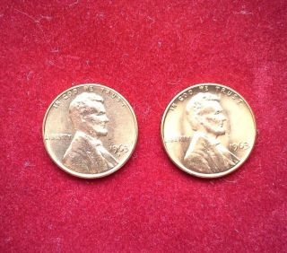 1963 P/d Lincoln,  Memorial Cents photo