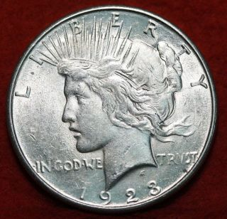 Uncirculated 1923 - S Silver Peace Dollar photo