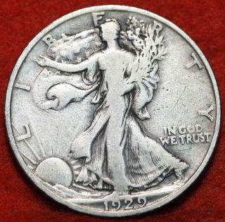 1929 - S Silver Walking Liberty Half photo