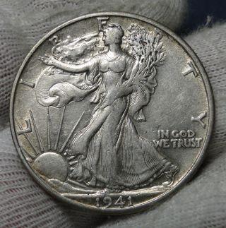 1941s Walking Liberty Half Dollar Coin.  (692) photo