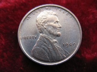 1909 - P - Vdb Lincoln Wheat Cent,  Beauty May Have Been Cleaned. photo