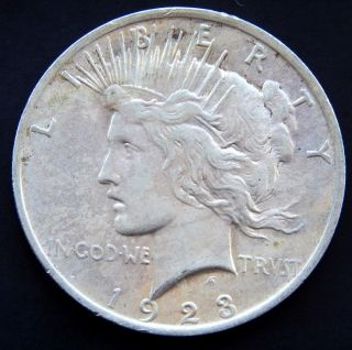 1923 P Peace Silver Dollar $1 photo