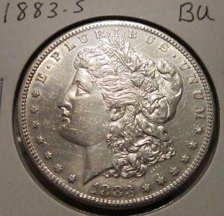 1883 - S Morgan Silver Dollar Bu Rare Key Date Us Silver Coin photo