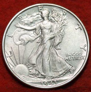 1943 Silver Walking Liberty Half photo