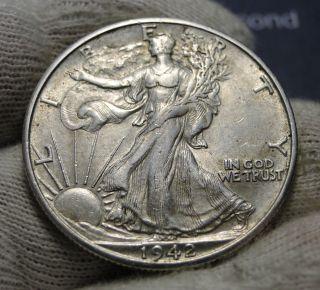 1942 - D Walking Liberty Half Dollar Coin.  (1135) photo