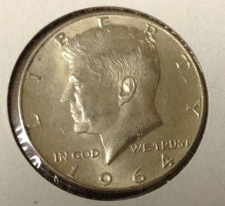 T435 : 1964 - D Silver Kennedy Half Dollar Coin :fairhouse Hq Liberty photo