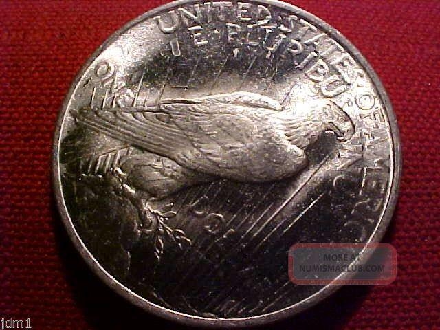 1923 P Peace Silver Dollar 1 Bright White Lustrous Gem