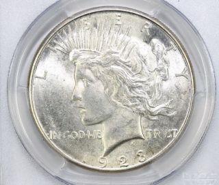 1923 S Peace Silver Dollar Ms 64 Pcgs (6393) photo