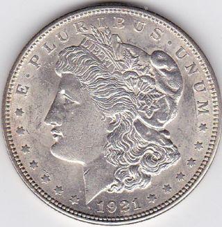 1921 Uncirc Morgan Silver Dollar photo