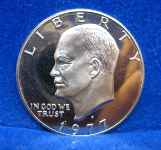 1977 - S Eisenhower Dollar Proof Deep Cameo.  Us Coin S/h photo